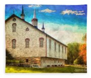 Centennial Barn Fleece Blanket