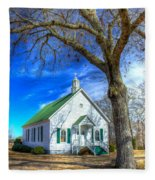 Centennial Christian Church Rural Greene County Georgia Fleece Blanket