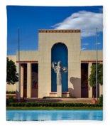 Centennial Hall At Fair Park - Dallas Fleece Blanket