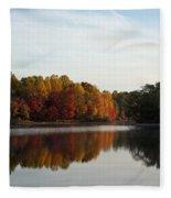 Centennial Lake Autumn - Fall Dressing Fleece Blanket