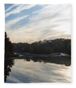 Centennial Lake Autumn - Great View From The Bridge Fleece Blanket