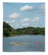 Centennial Lake Kayaks Fleece Blanket
