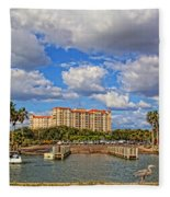 Centennial Park Boat Ramp Fleece Blanket