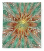 Center Hot Energetic Explosion Fleece Blanket