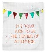 Center Of Attention- Card Fleece Blanket