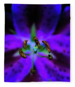 Center Of The Asiatic Lily Fleece Blanket