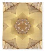 Center Star-flower Fleece Blanket