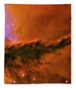 Center - Triptych - Stellar Spire In The Eagle Nebula Fleece Blanket