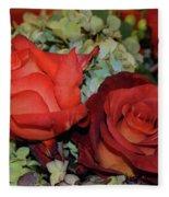Centerpiece Roses Fleece Blanket
