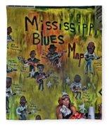 Central B B Q # 3- Memphis Fleece Blanket