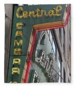 Central Camera Fleece Blanket