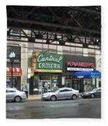 Central Camera On Wabash Ave  Fleece Blanket