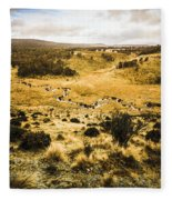 Central Highlands Of Tasmania Fleece Blanket