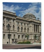 Central Library Milwaukee Full View Fleece Blanket