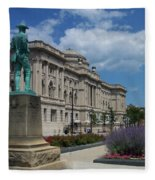 Central Library Milwaukee Street View Fleece Blanket