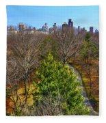 Central Park East Skyline Fleece Blanket