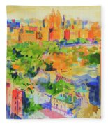 Central Park From The Carlyle Fleece Blanket