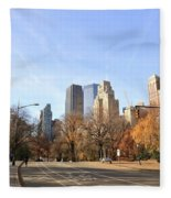 Central Park New York City Fleece Blanket