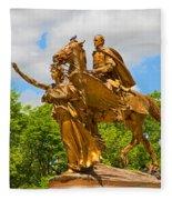 Central Park Sculpture-general Sherman Fleece Blanket
