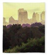 Central Park Skyline Fleece Blanket