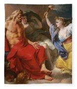 Ceres Begging For Jupiter's Thunderbolt After The Kidnapping Of Her Daughter Proserpine Fleece Blanket