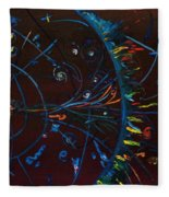 Cern Atomic Collision  Physics And Colliding Particles Fleece Blanket