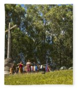 Cerro De La Cruz - Antigua Guatemala Hdr Iv Fleece Blanket