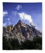 Cerro Fitz Roy 3 Fleece Blanket