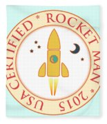 Certified Rocket Man Fleece Blanket by Gaspar Avila