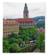 Cesky Krumlov Castle Complex In The Czech Republic Fleece Blanket