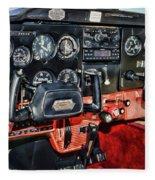 Cessna Cockpit Fleece Blanket