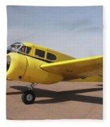 Cessna T-50 Bobcat N59188 Casa Grande Airport Arizona March 5 2011 Fleece Blanket