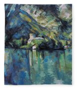 Cezanne: Annecy Lake, 1896 Fleece Blanket