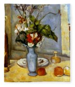 Cezanne: Blue Vase, 1885-87 Fleece Blanket