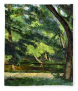 Cezanne: Etang, 1877 Fleece Blanket