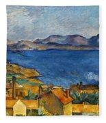 Cezanne Marseilles 1886-90 Fleece Blanket