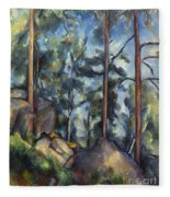 Cezanne: Pines, 1896-99 Fleece Blanket