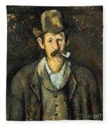Cezanne: Pipe Smoker, C1892 Fleece Blanket