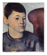 Cezanne: Portrait Of Son Fleece Blanket