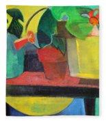 Cezanne Potting Stand Fleece Blanket
