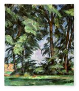 Cezanne: Trees, C1885-87 Fleece Blanket
