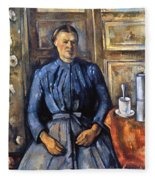 Cezanne: Woman, 1890-95 Fleece Blanket