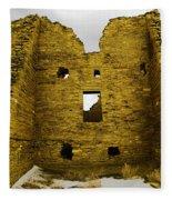 Chaco Canyon Ruins Fleece Blanket
