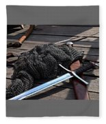 Chain Mail And Sword Fleece Blanket