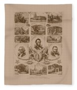 Chain Of Events In American History Fleece Blanket