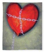 Chained Heart Fleece Blanket