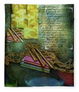 Chains, Poetry And Spirits Fleece Blanket