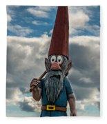 Chainsaw Art Gnome Fleece Blanket
