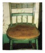 Chair In Isolated Corner Fleece Blanket