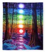 Chakra Meditation In The Redwoods Fleece Blanket